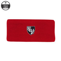 KNIT WINTER HEADBAND WITH FLEECE LINING & SHIELD LOGO