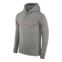 NIKE MENS HEATHER GRAY THERMA HOODED SWEATSHIRT