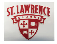 DECAL ST. LAWRENCE ALUMNI SHIELD OUTSIDE APPLY #004-o