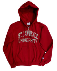 CHAMPION CARDINAL FULL ZIP HOODED SWEATSHIRT