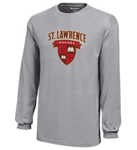 HOCKEY LONG SLEEVE GRAY T-SHIRT - YOUTH