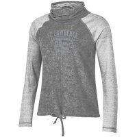 SWEATSHIRT LADIES GRAY COWL NECK