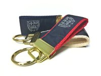 KEY RING WITH CUSTOM SLU RIBBON
