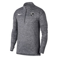 NIKE MENS 1/4 ZIP HEATHERED GRAY L/S TOP