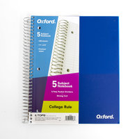 OXFORD 5 SUB POLY NOTEBOOK