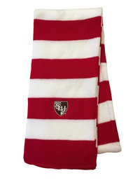 SCARF SLU RED & WHITE RUGBY STRIPE