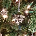 ORNAMENT ST. LAWRENCE ROUND ETCHED CRYSTAL