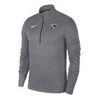 """NIKE MENS 1/4 ZIP L/S """"PACER"""" TOP CARBON HEATHER GRAY"""